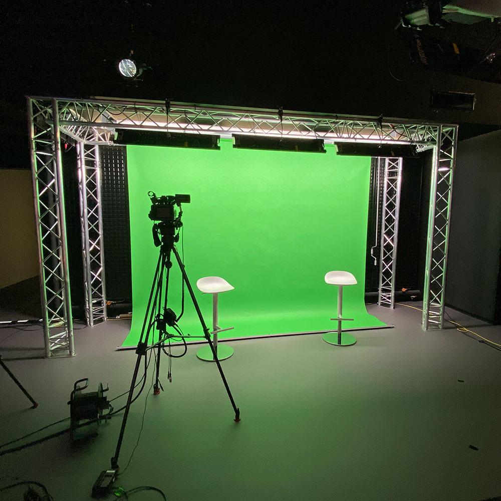 Installation studio et fond vert pour Edwards Pharmaceuticals