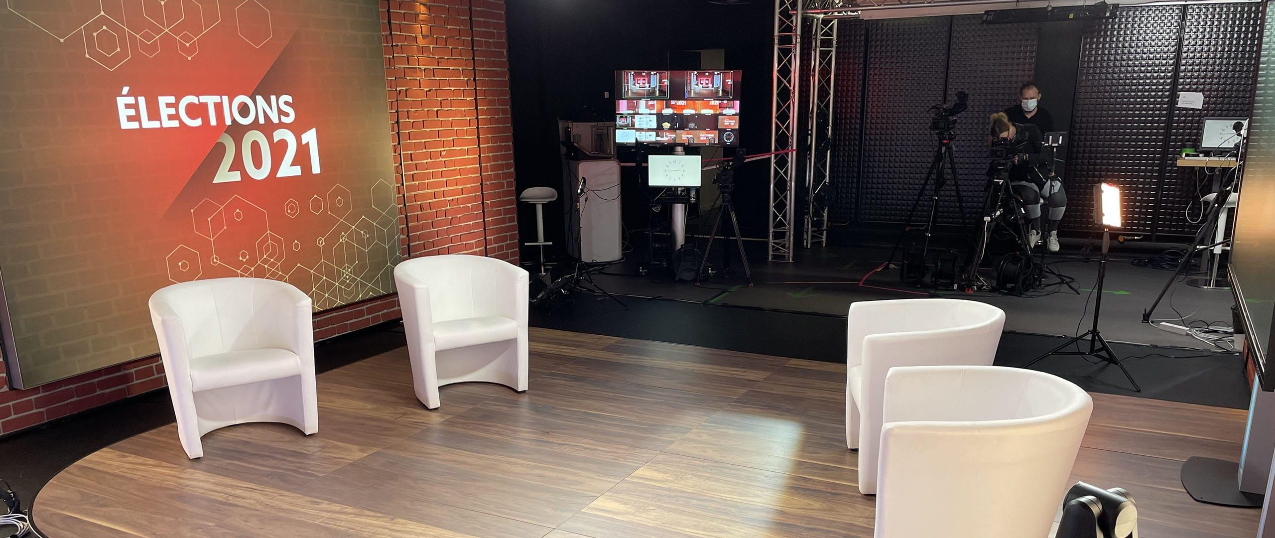 go-studio pour les élections régionales 2021 NRTV