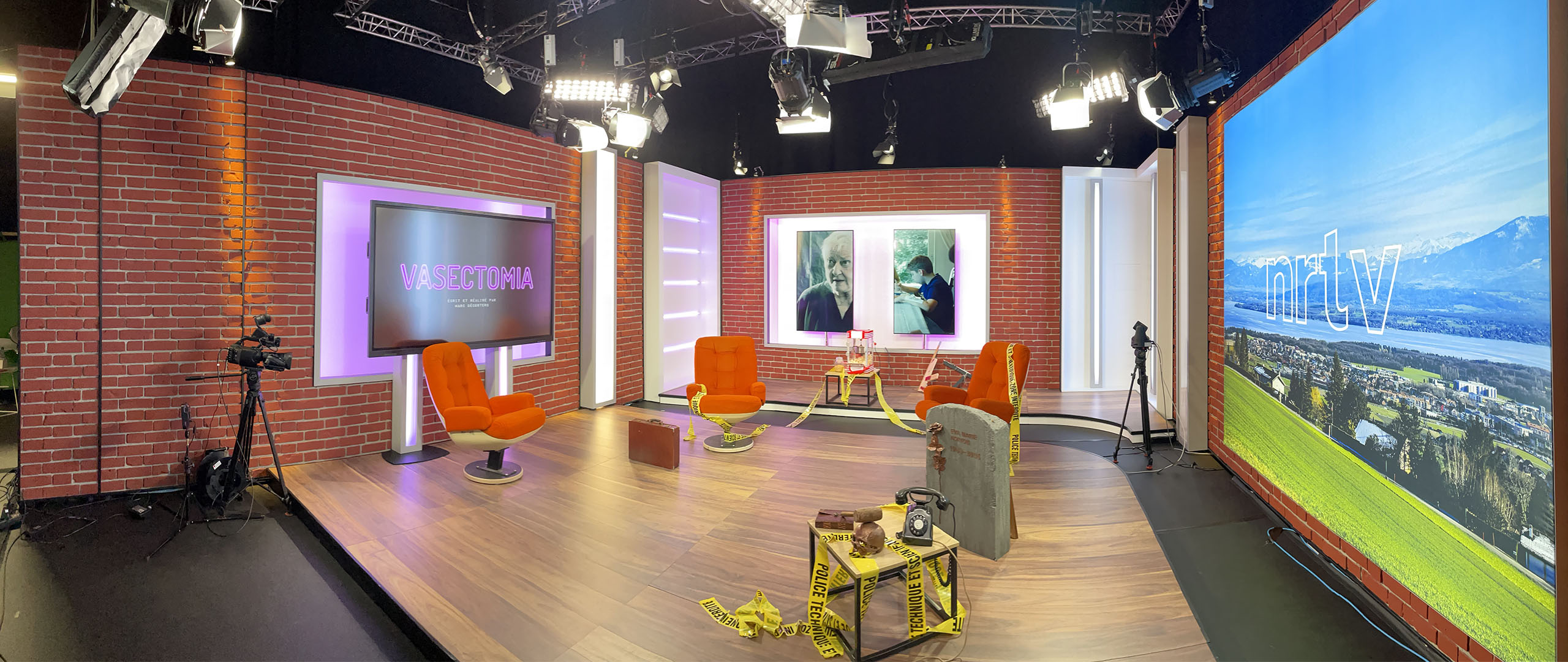 Go-studio lors de l'avant première Vasectomia NRTV
