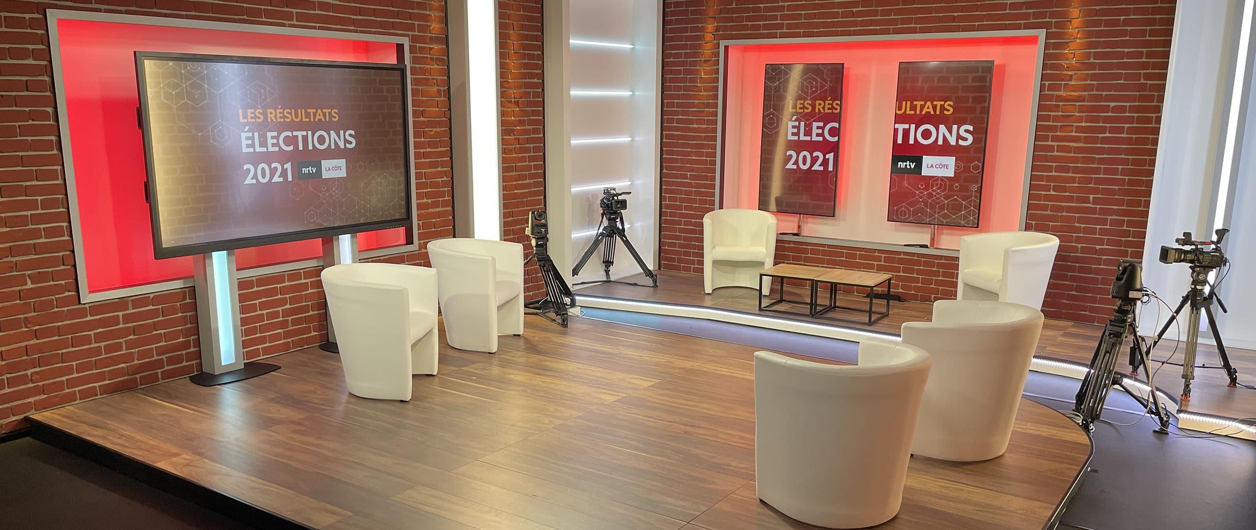 Go-studio pour le débat des éléections régionales 2021 NRTV